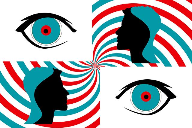 des yeux en état d'hypnose