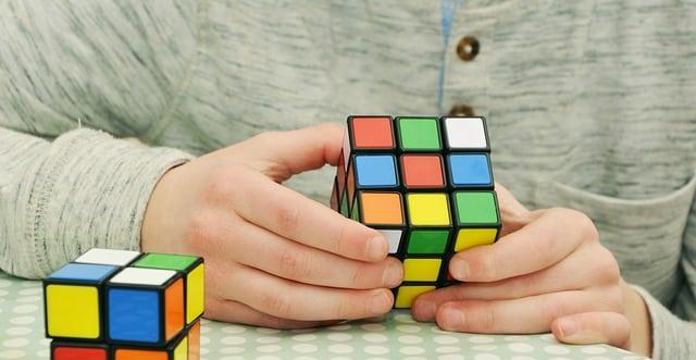 patience avec un magic cube